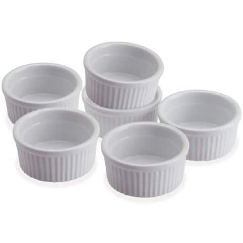 Progressive CRR6 5 Oz Porcelain Stacking Ramekins Set Of 6