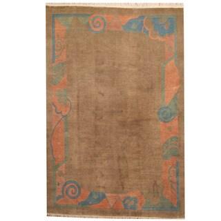 Herat Oriental Nepali Hand-knotted Tibetan Wool Rug (6'7 x 9'8)