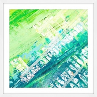 Parvez Taj - 'Green Haze' Framed Painting Print