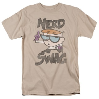 Dexter's Laboratory/Nerd Swag Short Sleeve Adult T-Shirt 18/1 in Sand