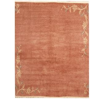 Herat Oriental Nepali Hand-knotted Tibetan Wool Rug (6'7 x 8'3)