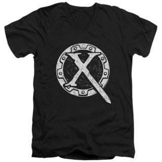 Xena/Sigil Short Sleeve Adult T-Shirt V-Neck 30/1 in Black