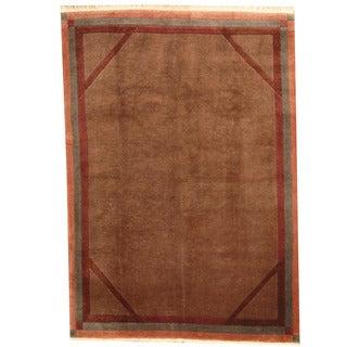 Herat Oriental Nepali Hand-knotted Tibetan Wool Rug (5'8 x 8')
