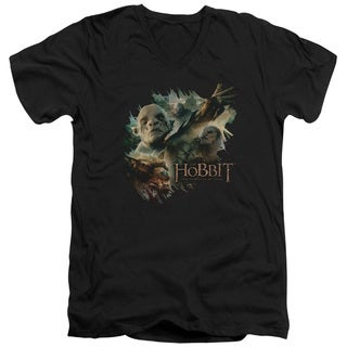 Hobbit/Baddies Short Sleeve Adult T-Shirt V-Neck 30/1 in Black