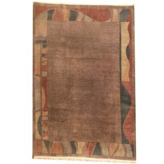 Herat Oriental Nepali Hand-knotted Tibetan Wool Rug (6'6 x 9'6)