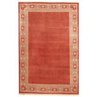 Herat Oriental Nepali Hand-knotted Tibetan Wool Rug (6'3 x 9'5)
