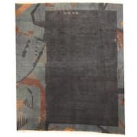 Handmade Herat Oriental Nepali Tibetan Wool Rug (Nepal) - 8'3 x 9'5