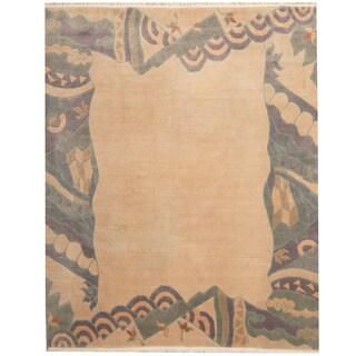 Herat Oriental Nepali Hand-knotted Tibetan Wool Rug (8'2 x 9'10)
