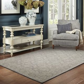 Style Haven Soothing Traditions Grey/Stone Wool Loop-pile Area Rug (10' x 13)