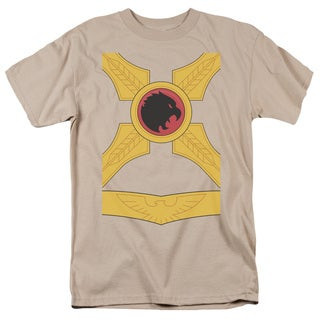 JLA/Hawkman Short Sleeve Adult T-Shirt 18/1 in Sand