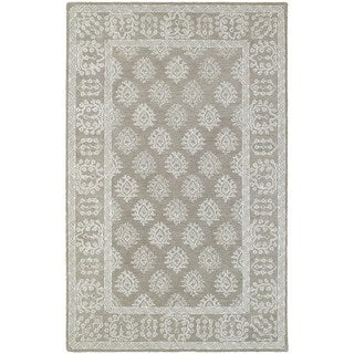 Style Haven Traditional Grey/Beige Wool Loop Pile Rug (10' x 13')