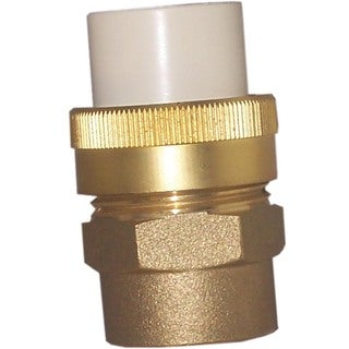 "Genova Products 53375Z 3/4"" Low Lead CPVC Slip X 3/4"" Brass FIP Transition Union"