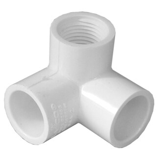 """Genova Products 33105 1/2"""" PVC 90° Elbow With Female Side Inlet"""