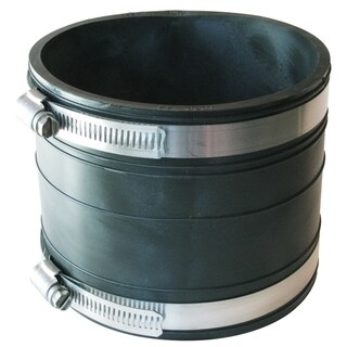 "Fernco P1060-44 4"" X 4"" Rubber Flexible Socket Coupling Repair Fitting"
