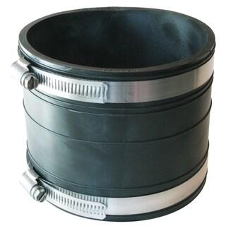 "Fernco P1060-44 4"" X 4"" Rubber Flexible Socket Coupling Repair Fitting"