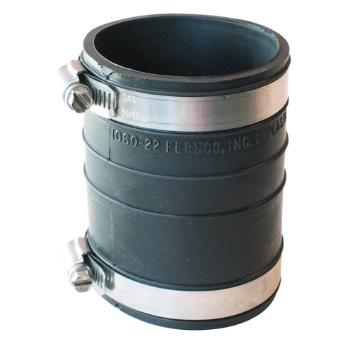 "Fernco P1060-22 2"" X 2"" Rubber Flexible Socket Coupling Repair Fitting"