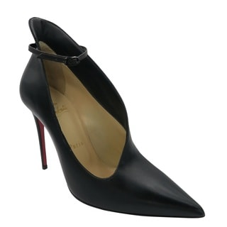 Christian Louboutin Vampydoly Black Leather Ankle Strap Pumps