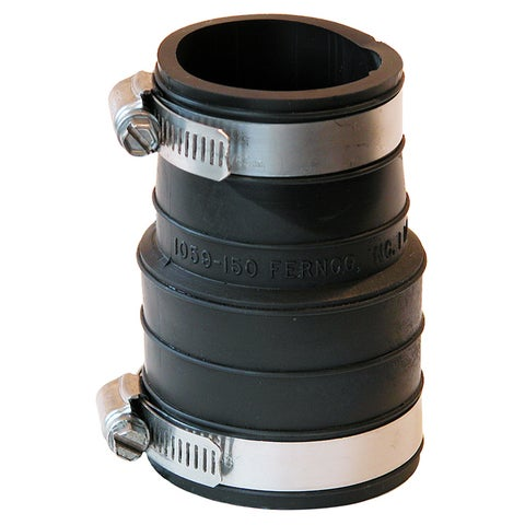 "Fernco P1059-150 1-1/2"" X 1-1/2"" Rubber Flexible Coupling Repair Fitting"