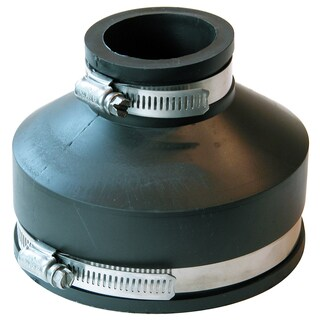 """Fernco P1056-415 4"""" X 1-1/2"""" Flexible Coupling With Clamp"""