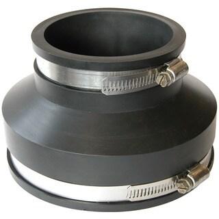 "Fernco P1006-43 4"" X 3"" Flexible Coupling For Concrete To Cast Iron/Plastic"