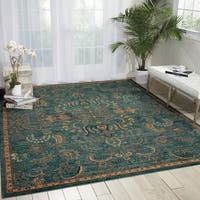 Nourison 2020 Teal Area Rug (8' x 10'6) - 8' x 10'6