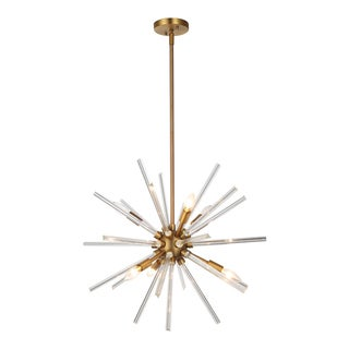 OVE Decors Harbin Bronze-finished LED integrated Chandelier