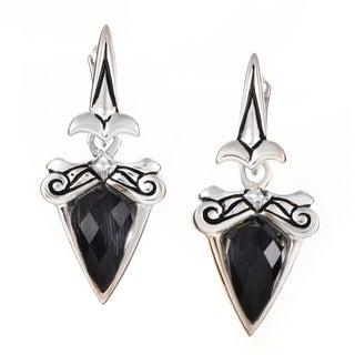 Stephen Webster Superstud Baroque Sterling-silver Cat's Eye/Quartz Earrings