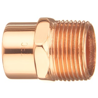 """Elkhart Products 104 1"""" 1"""" Copper Male Adapters"""