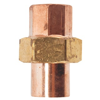 "Elkhart Products 102 1/2"" 1/2"" C X C Copper Unions"