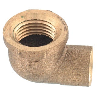 """Elkhart Products 10156816 1/2"""" Low Lead Copper 90° Elbow"""
