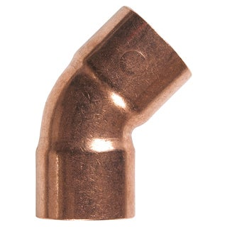 "Elkhart Products 10131106 3/4"" C X C Copper 45-degree Elbows"