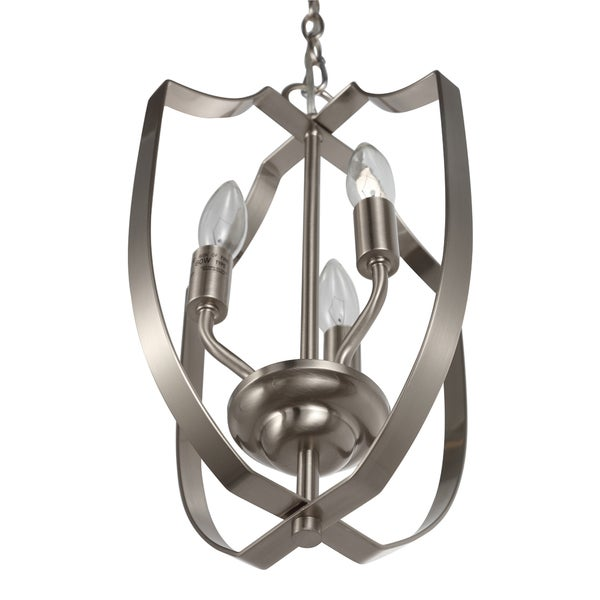OVE Decors Valentino i Brushed Nickel Stainless Steel LED integrated Chandelier