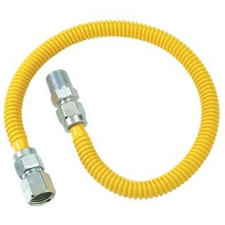 "Brass Craft CSSD54-48P 48"" Stainless Steel Gas Heater Connector"