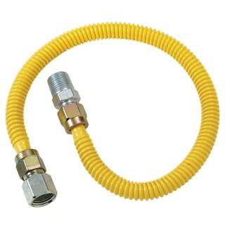"Brass Craft CSSD54-24P 24"" Stainless Steel Gas Heater Connector"