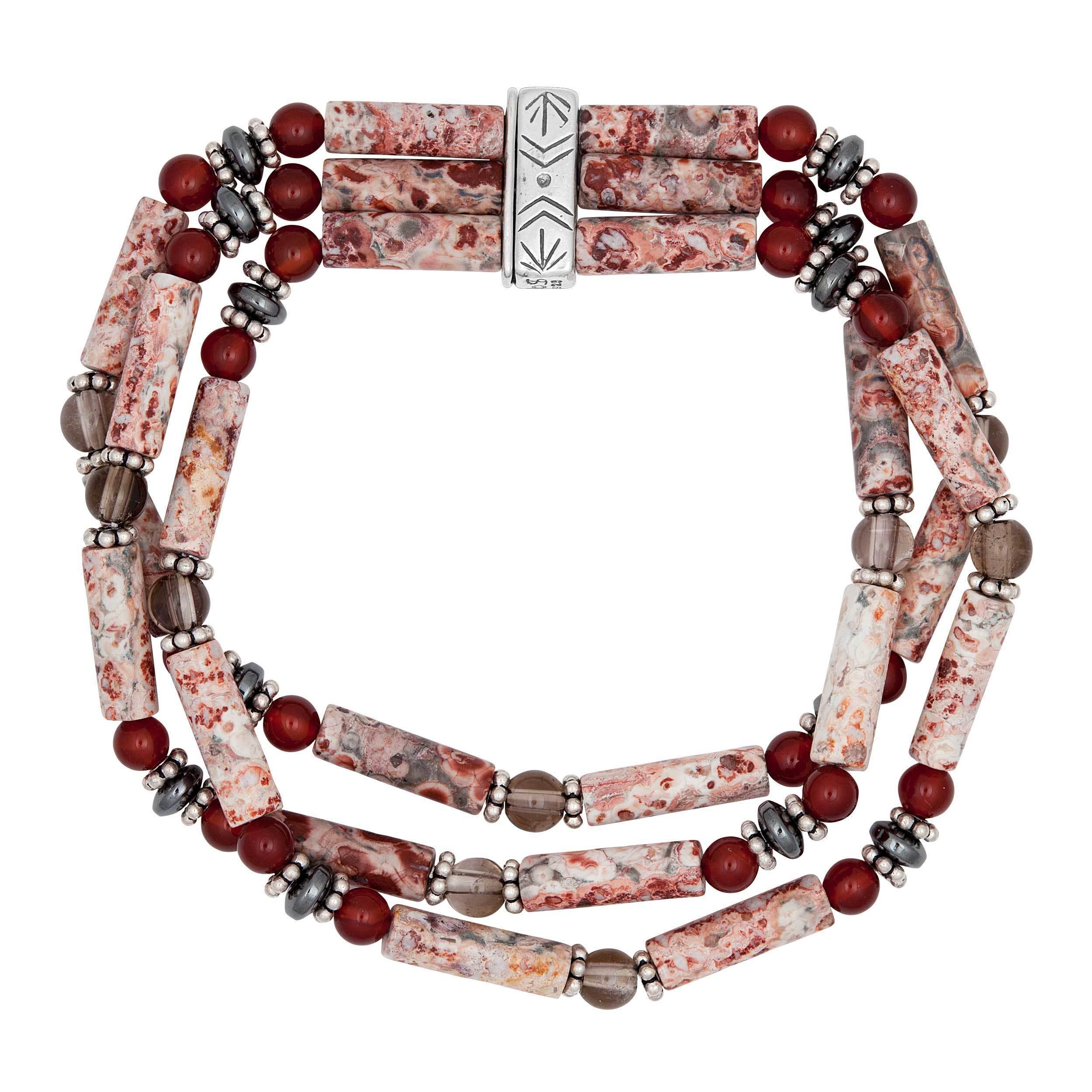 Sterling Silver Multi-Stone Stretch Bracelet (multi-stone...