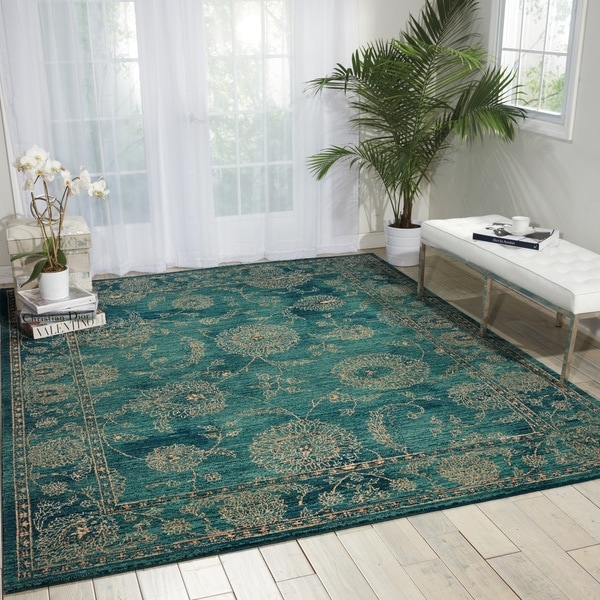 Turquoise Area Rug 8x10: Shop Nourison 2020 Teal Area Rug