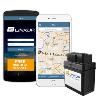 Linxup LPAAS1P1 OBD Vehicle Tracking Device with Free Month of 3G GPS Service
