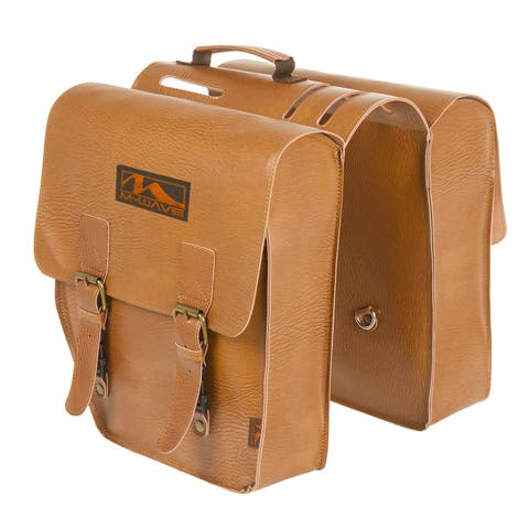 Ventura Amsterdam Double L Brown Leatherette Pannier Bag