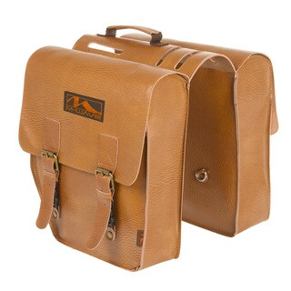 Ventura Amsterdam Double L Brown Leatherette Pannier Bag