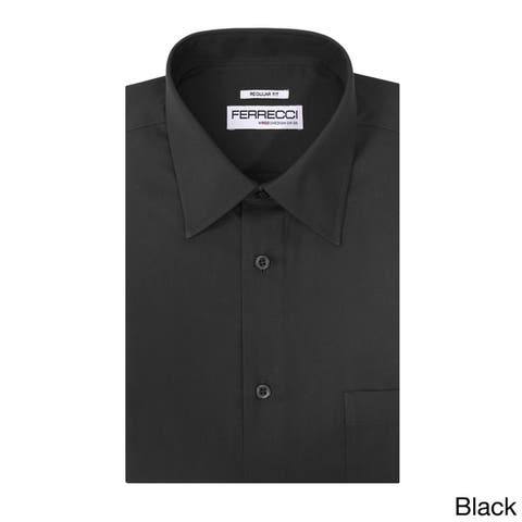 94cd5e7e Ferrecci Men's Virgo Polyester and Cotton Premium Regular-fit Dress Shirt