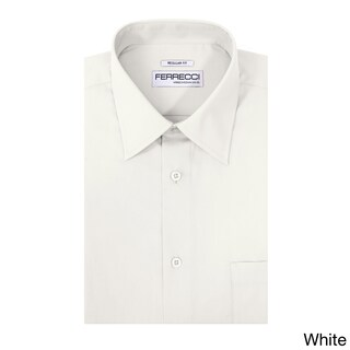 Ferrecci Men's Virgo Polyester and Cotton Premium Regular-fit Dress Shirt (More options available)