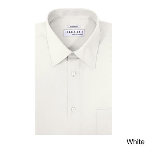 Ferrecci Men's Virgo Polyester and Cotton Premium Regular-fit Dress Shirt