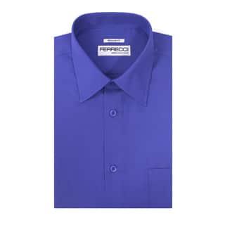 Ferrecci Men's Virgo Polyester and Cotton Premium Regular-fit Dress Shirt|https://ak1.ostkcdn.com/images/products/12592213/P19389159.jpg?impolicy=medium
