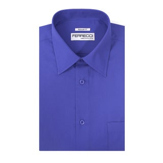 Ferrecci Men's Virgo Polyester and Cotton Premium Regular-fit Dress Shirt