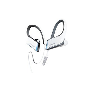 Panasonic Wings Wireless Bluetooth Earbuds with Mic and Controller + Flashing LED's (White)