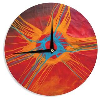 KESS InHouse Steve Dix 'Eclipse' Wall Clock