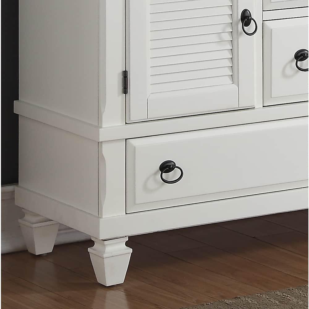 Shop Regitina White 6-Drawer Dresser with Mirror - Free ...