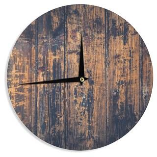 KESS InHouse Susan Sanders 'Barn Floor' Rustic Wall Clock