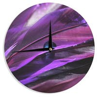 KESS InHouse Susan Sanders 'Birds of a Feather' Nature Purple Wall Clock