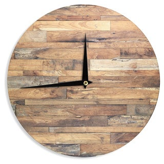 KESS InHouse Susan Sanders 'Campfire Wood' Rustic Wall Clock